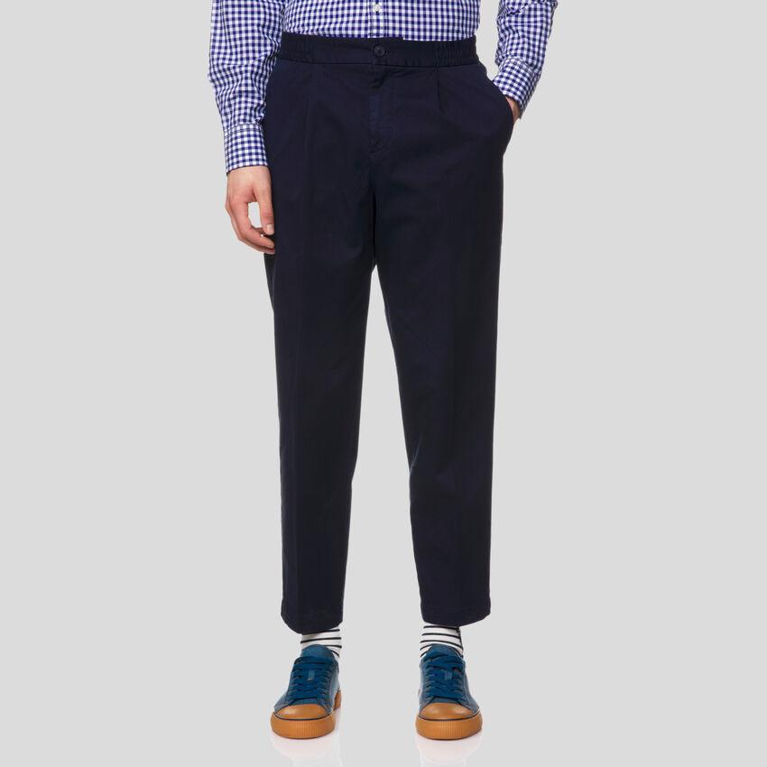 Pantalon chino avec taille élastiquée