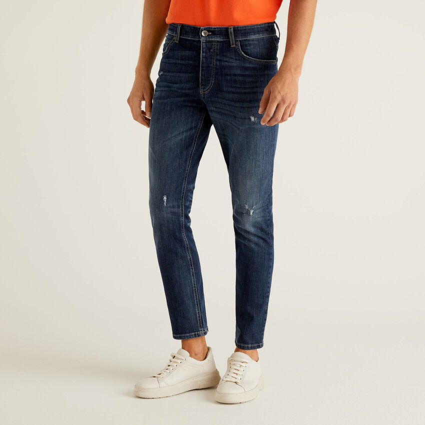 Jeans coupe slim avec taille normale