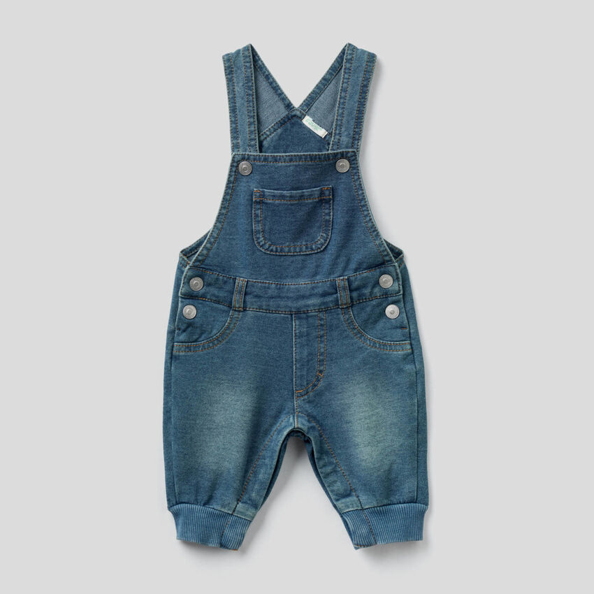 Salopette en molleton effet jeans