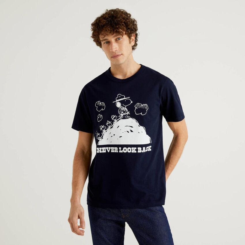 T-shirt Peanuts bleu foncé