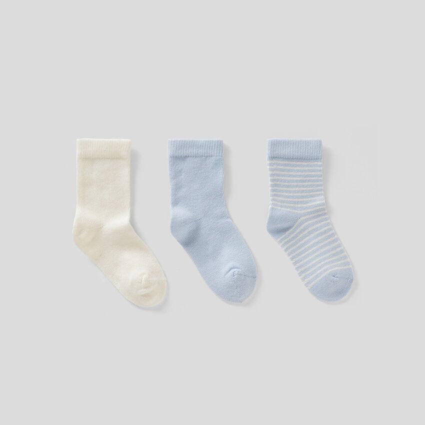 Lot de chaussettes dans les tons de bleu clair
