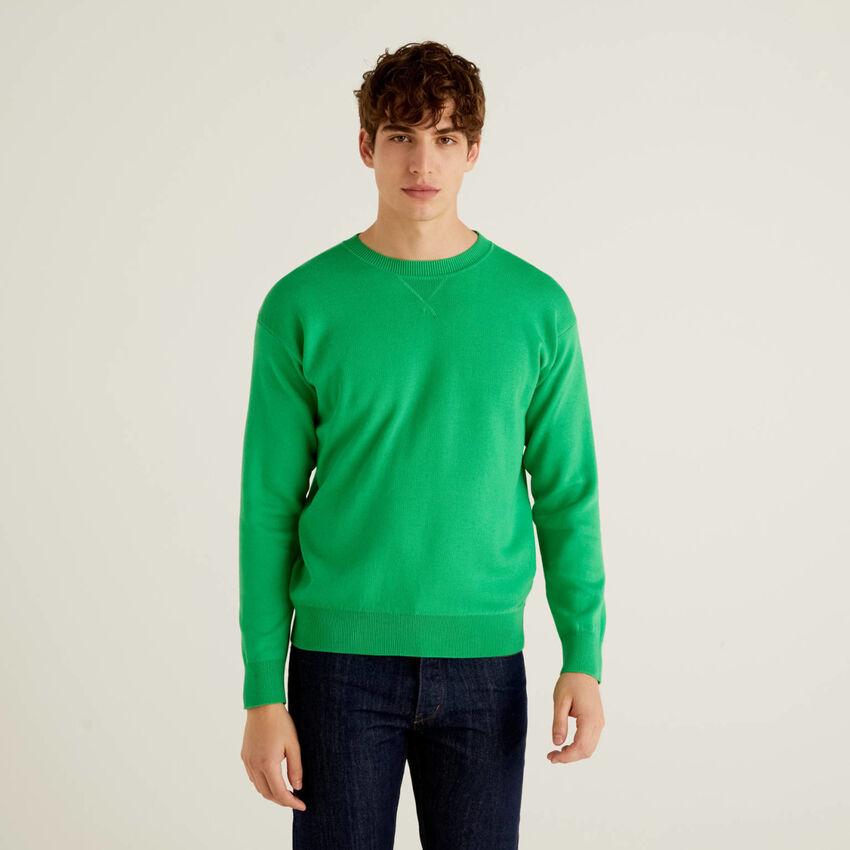 Pull réversible en coton tricot