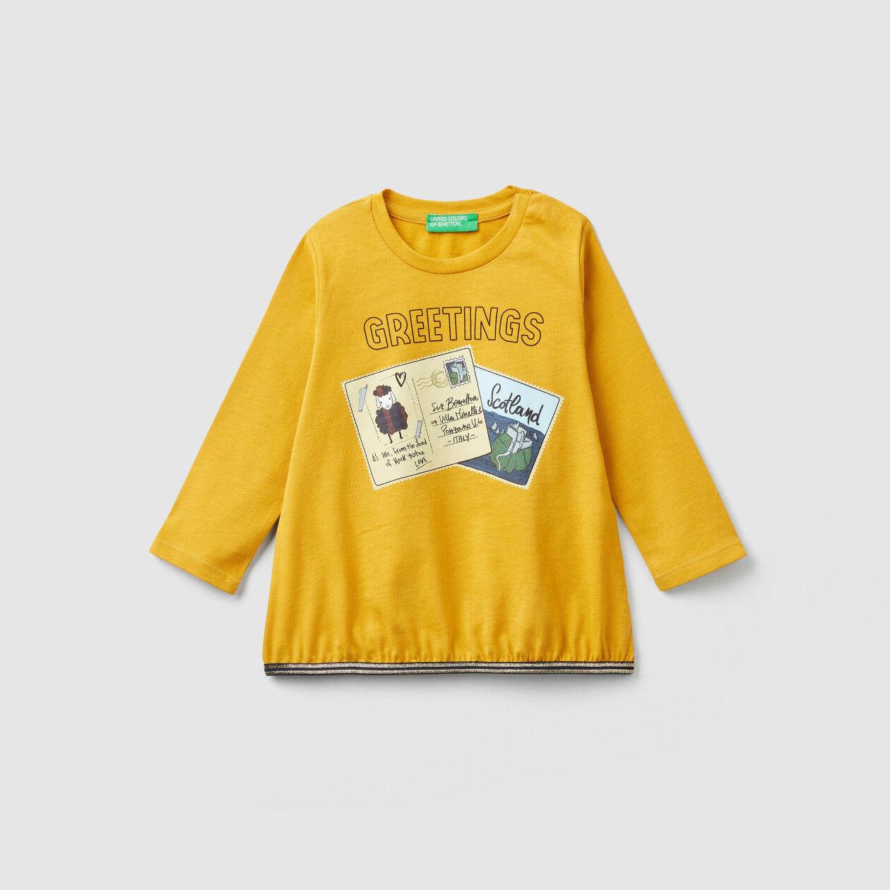 T-shirt imprimé cartes postales