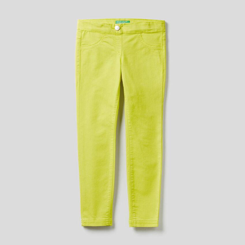 Pantalon en twill de coton mélangé