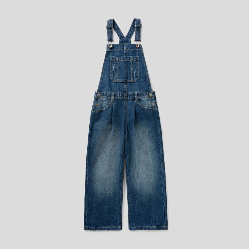 Salopette en jeans 100% coton