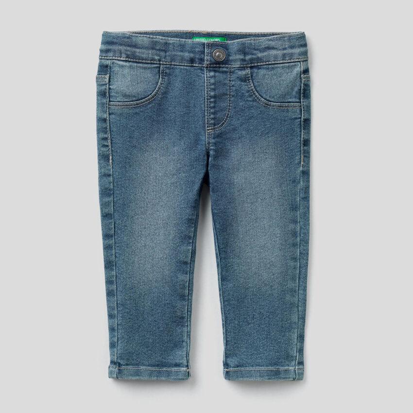 "Jeans coupe slim en denim ""Eco-Recycle"""