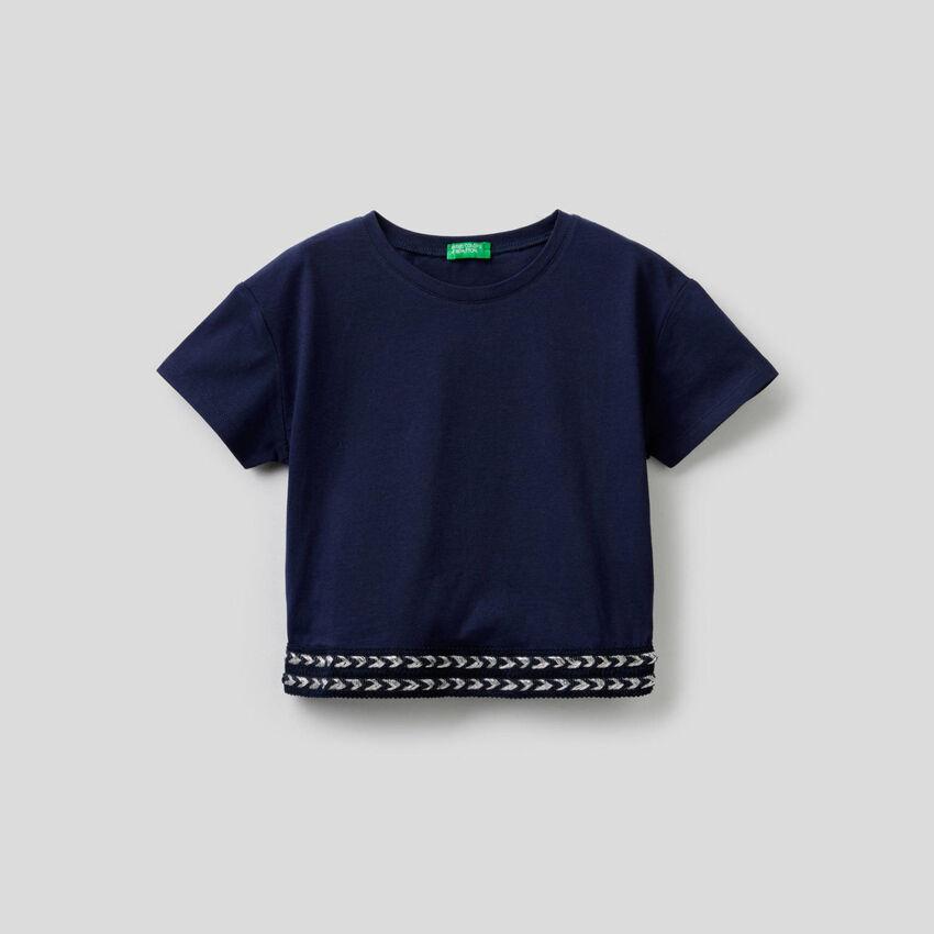 T-shirt en coton avec coupe cropped