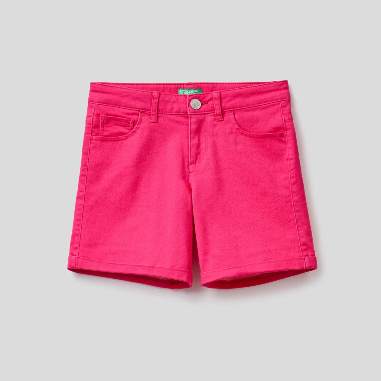 Short cinq poches uni