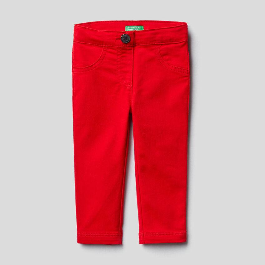 Pantalon en coton mélangé stretch