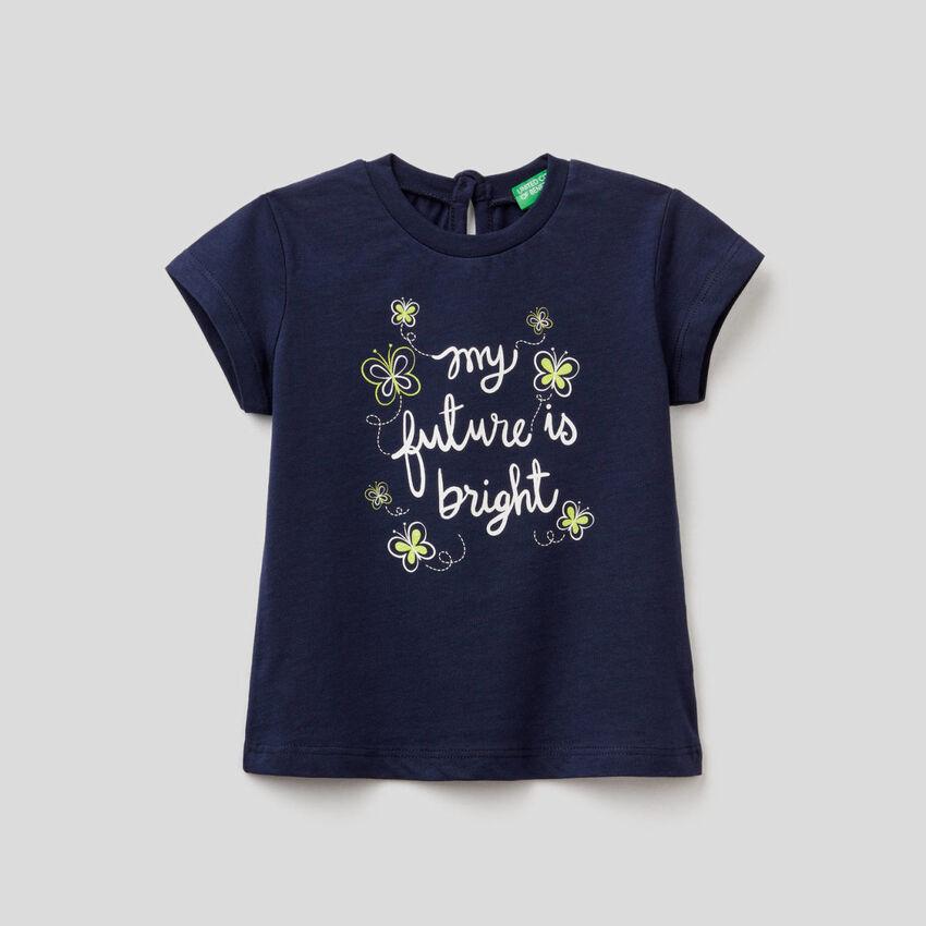 T-shirt en coton bio avec imprimé