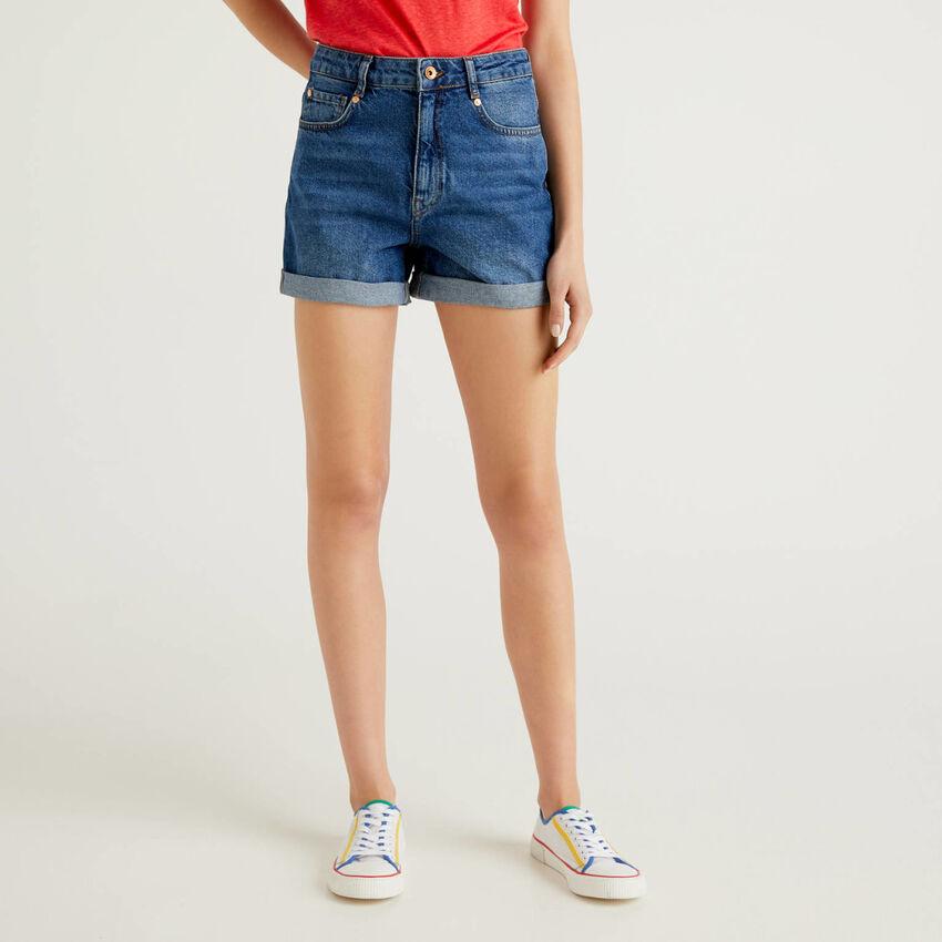 Short en jeans 100% coton