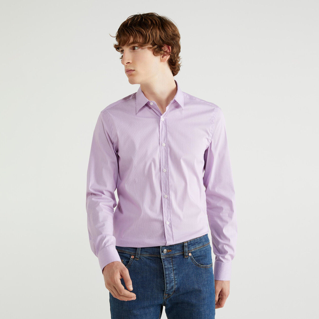 Chemise coupe slim à rayures