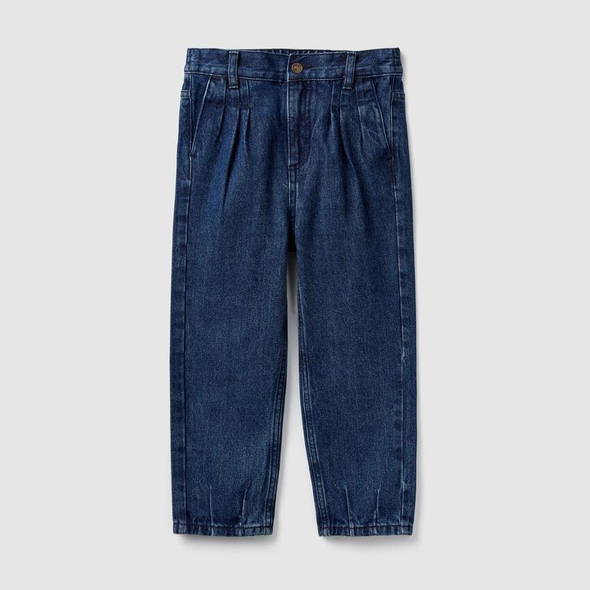 Pantalon en denim à taille haute