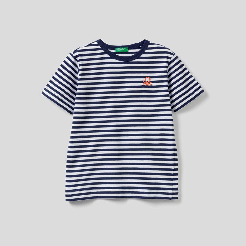 T-shirt à rayures 100% coton