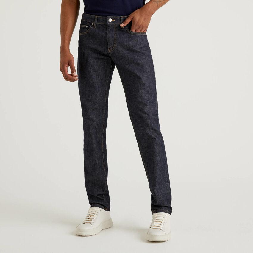 Jeans straight leg en coton stretch