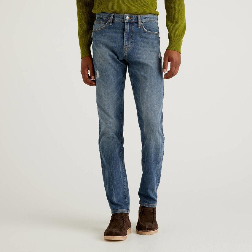 Jeans cinq poches en coton stretch