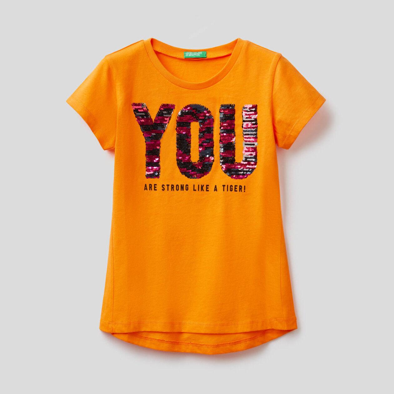 T-shirt en coton avec paillettes