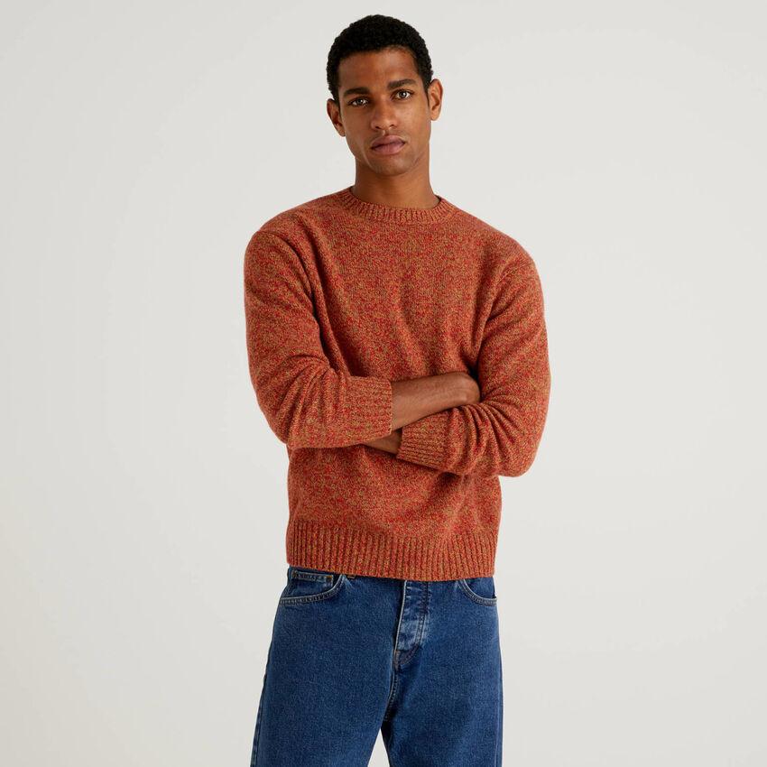 Pull col rond en pure laine Shetland