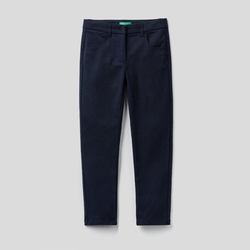Pantalon coupe skinny en flanelle stretch