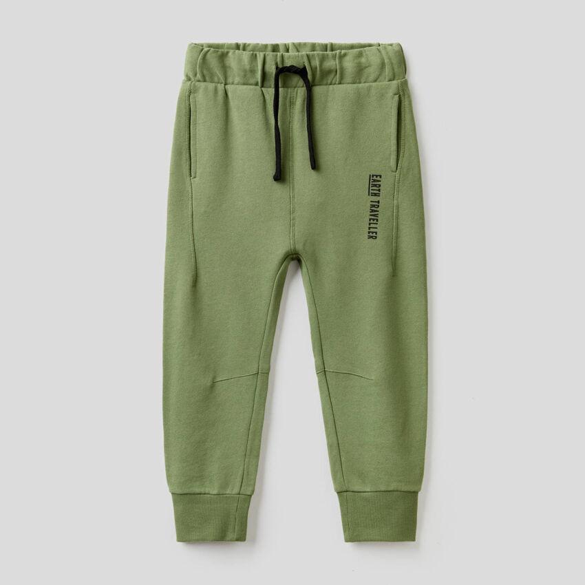 Pantalon vert militaire 100% coton