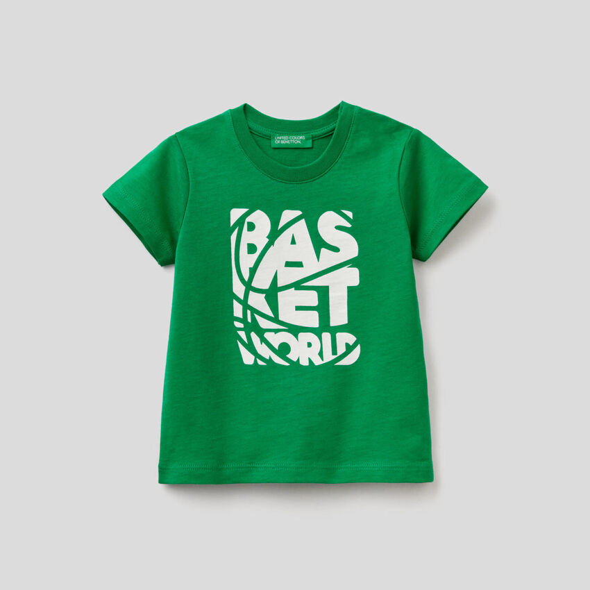 T-shirt imprimé en coton bio