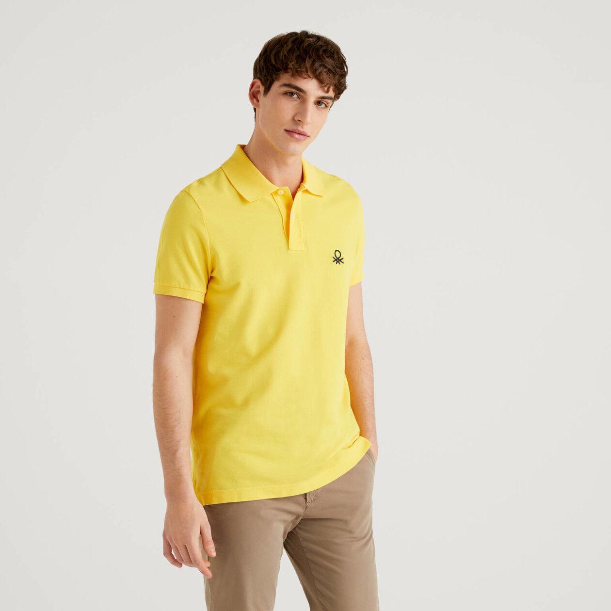 Polo jaune coupe slim