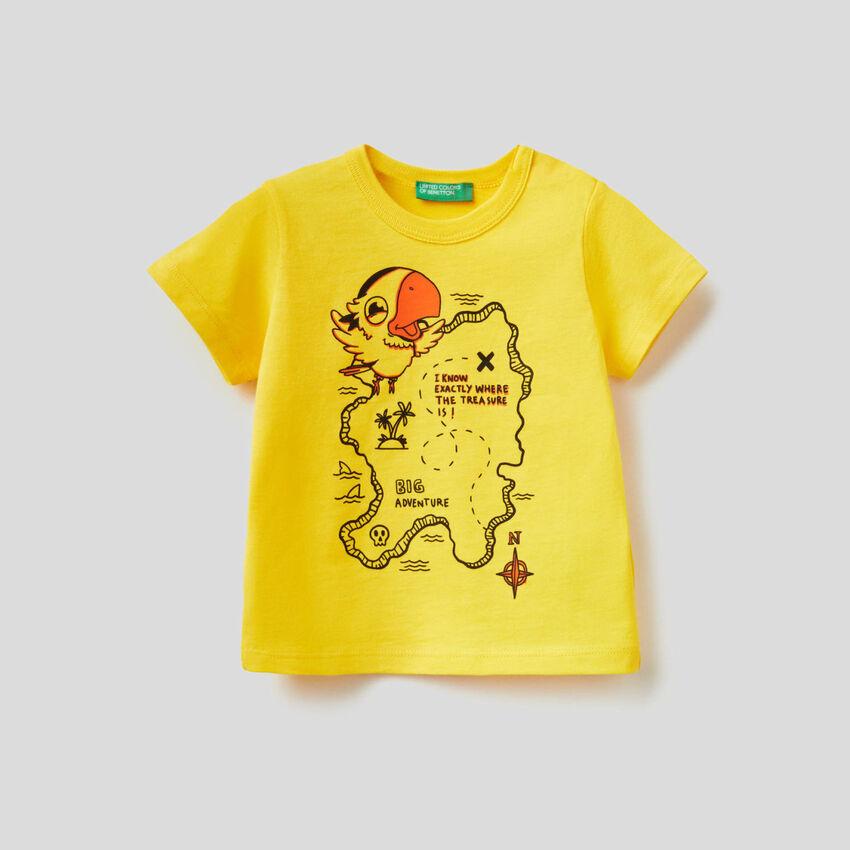 T-shirt 100% coton avec grand imprimé