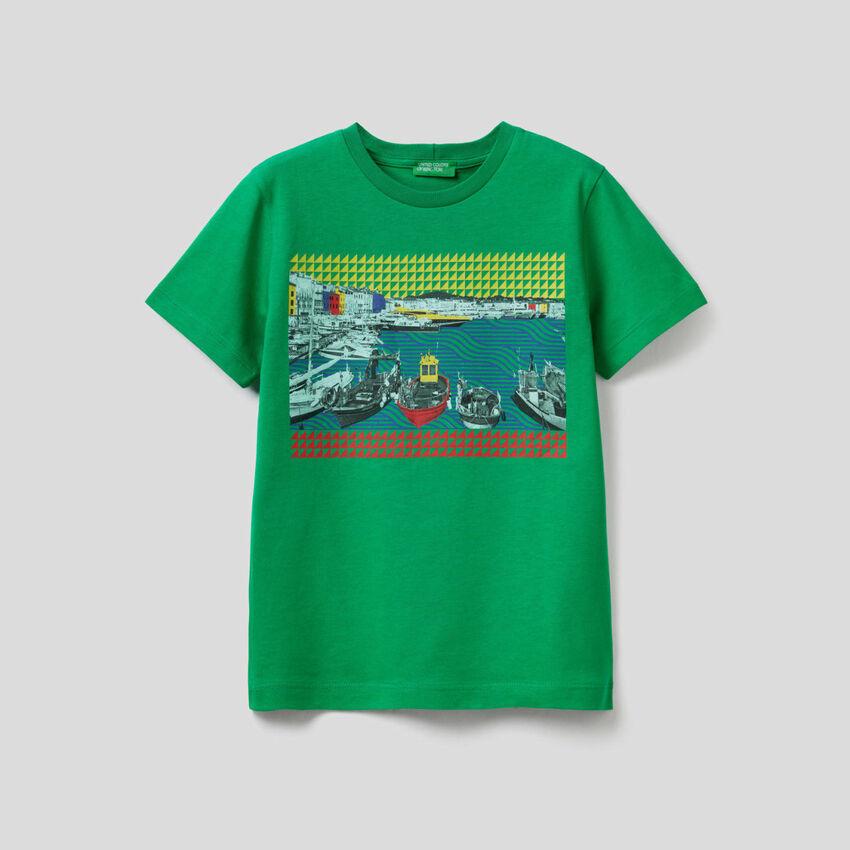 T-shirt avec imprimé paysage