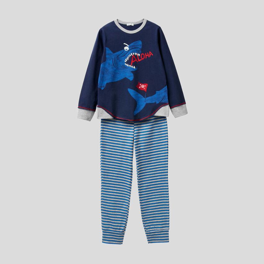 Pyjama avec imprimé phosphorescent