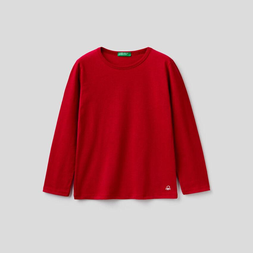 T-shirt rouge à manches longues