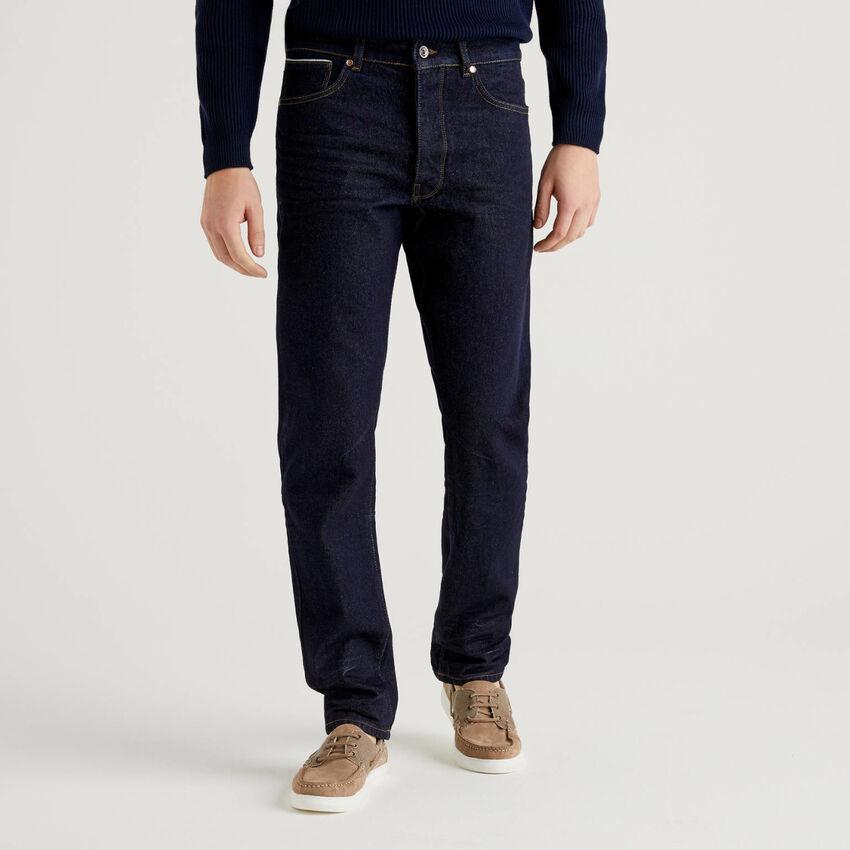 Jeans cinq poches en denim 100% coton