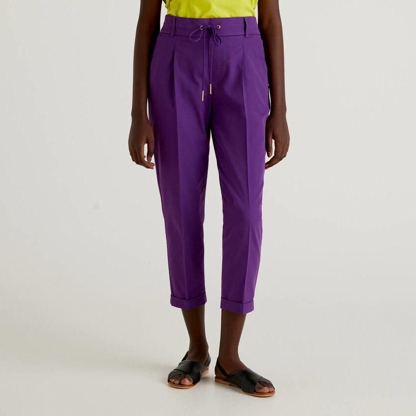 Pantalon en coton avec cordon de serrage