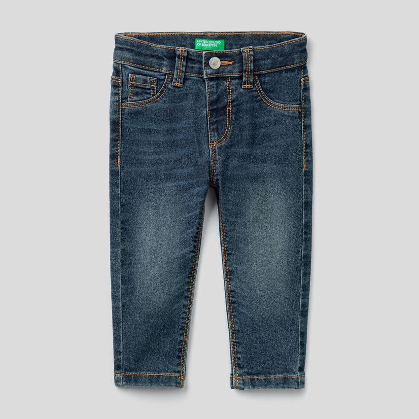 Jeans coupe skinny en coton mélangé stretch