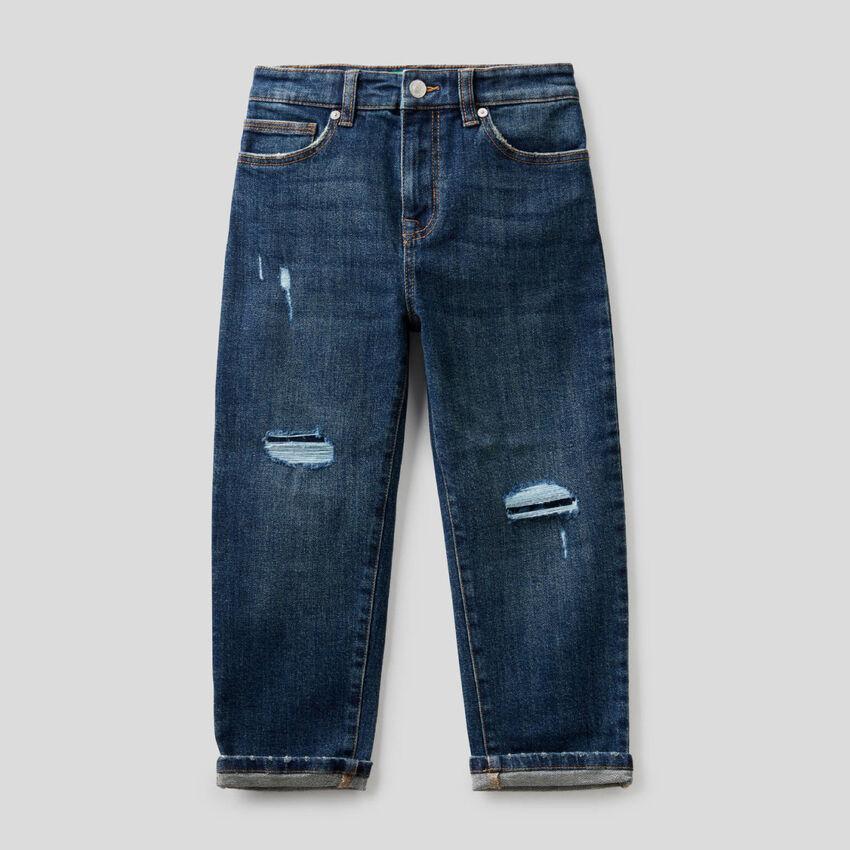 Jeans slouchy avec déchirures