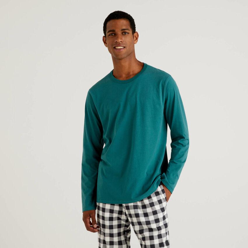 T-shirt en coton chaud à fibres longues