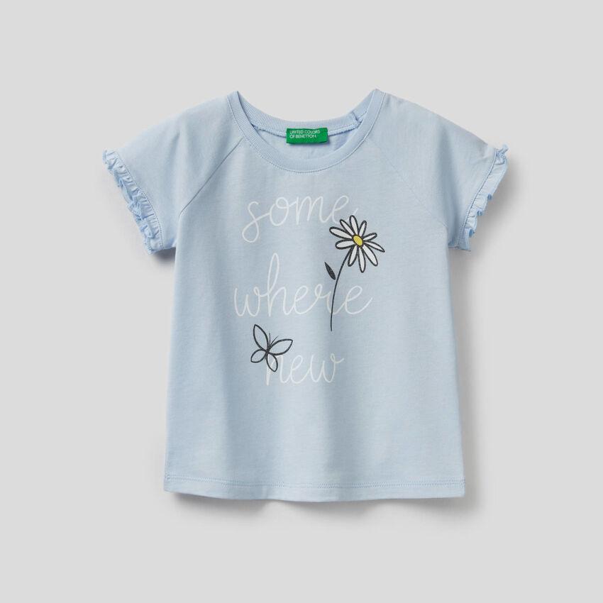 T-shirt avec ruches et paillettes