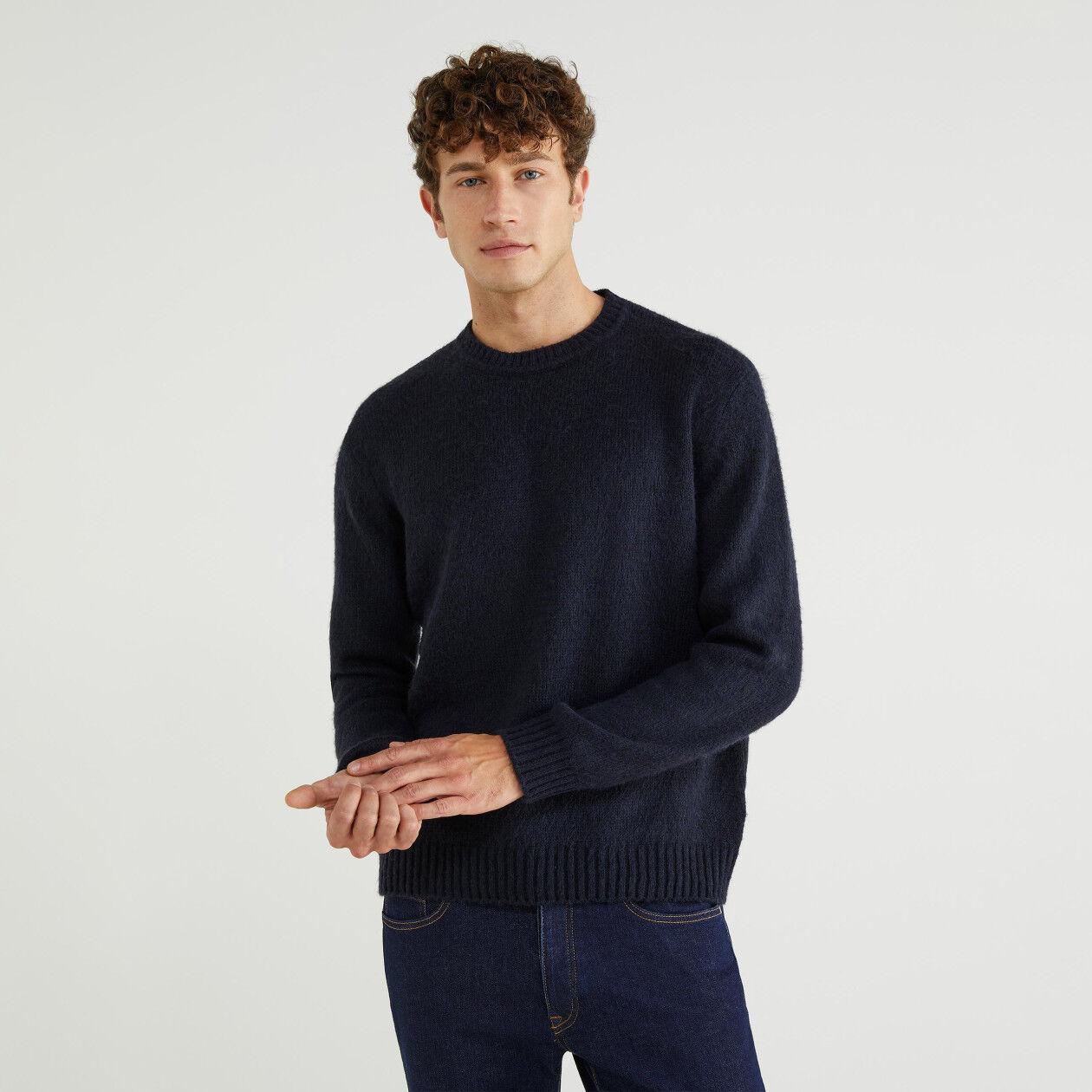 Pull col rond laine mélangée