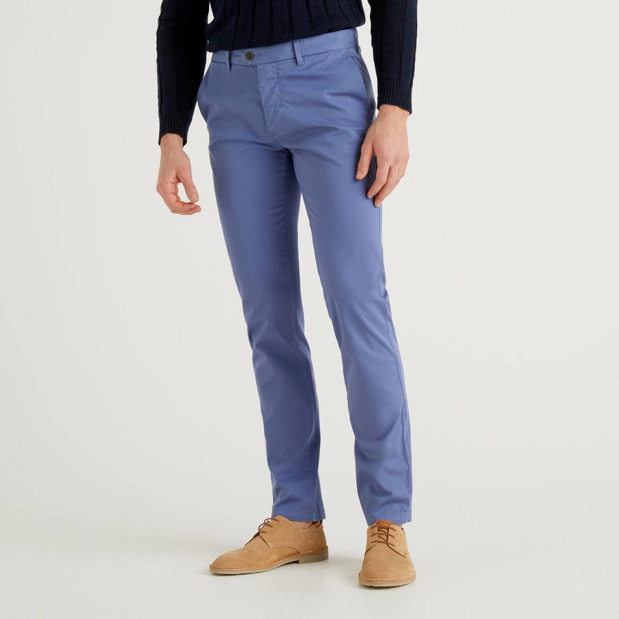 Chino stretch bleu horizon coupe slim