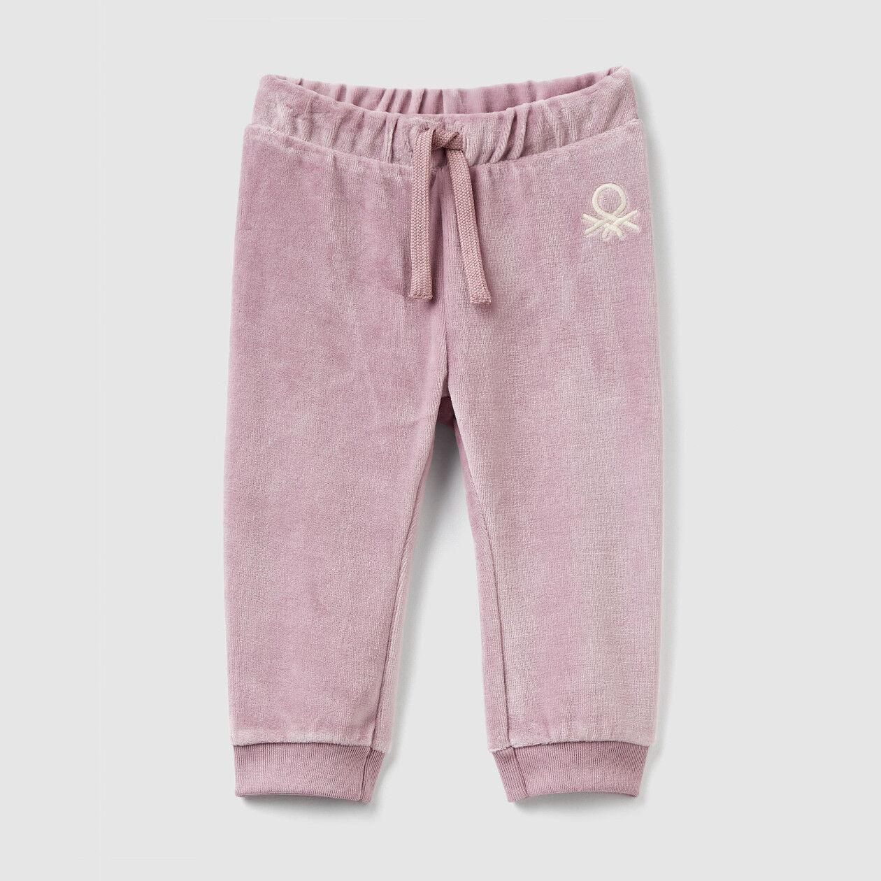Pantalon en chenille avec galon