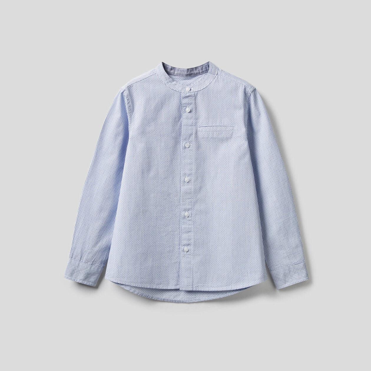 Chemise à motifs tissés teints