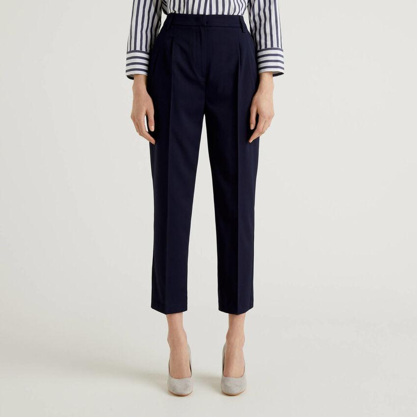 Pantalon classique en tissu stretch