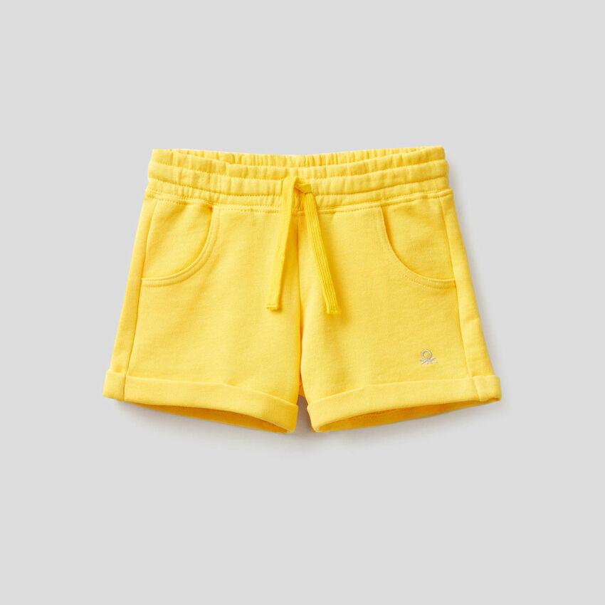 Short en molleton de pur coton