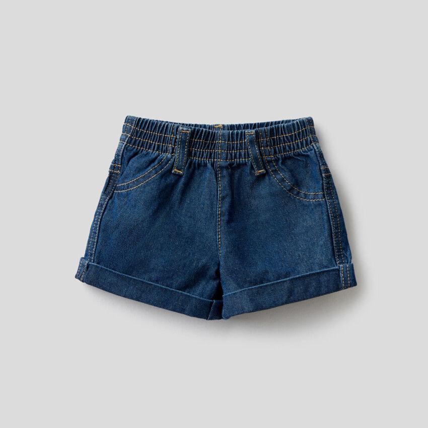Short en denim de 100% coton