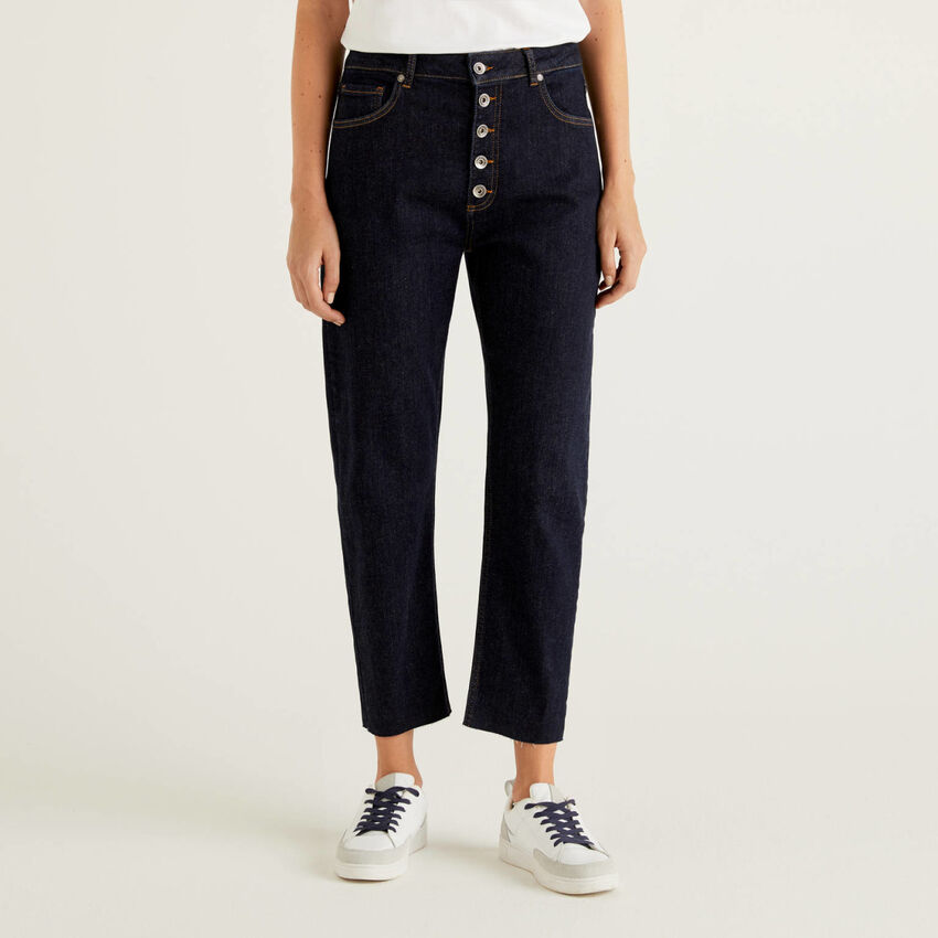 Jeans cinq poches mom fit