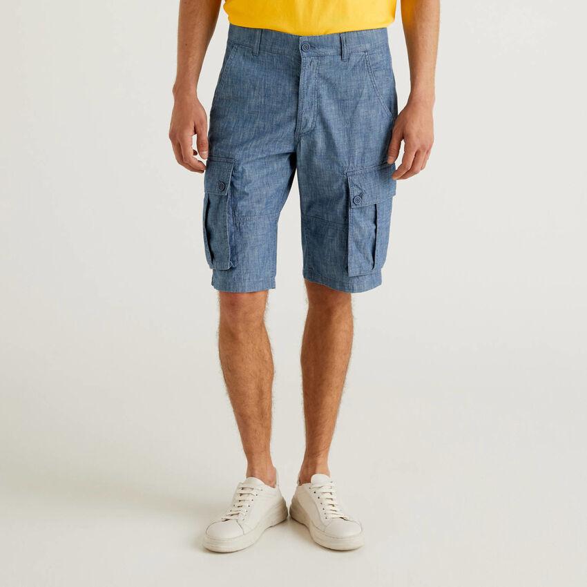 Bermuda cargo effet jeans