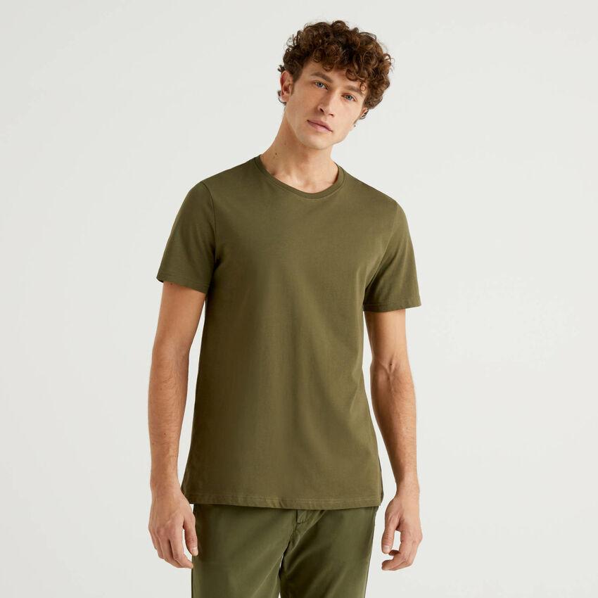 T-shirt vert militaire personnalisable