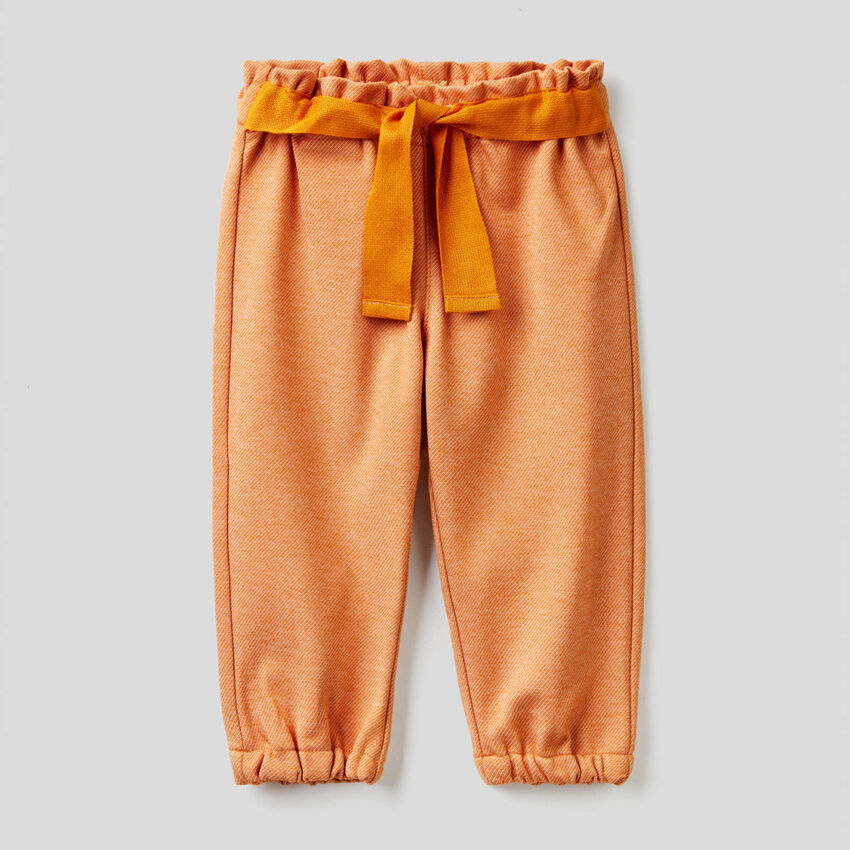 Pantalon avec ruban en tissu
