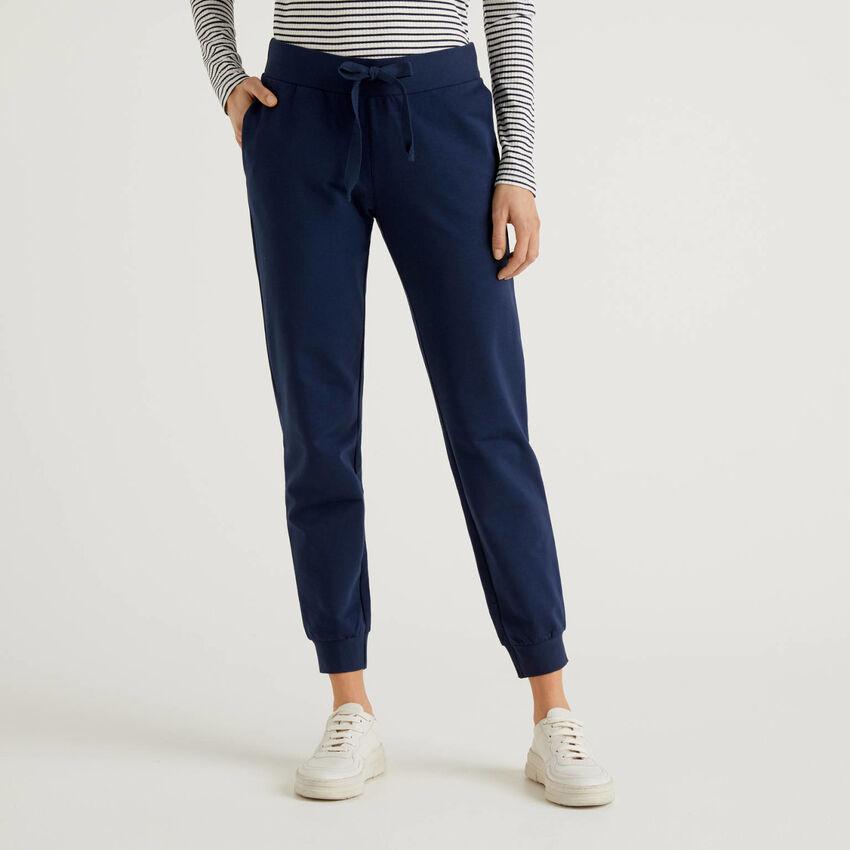 Pantalon en molleton de coton stretch