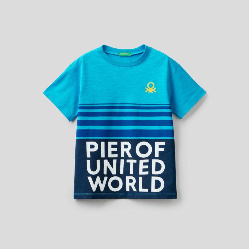 T-shirt en coton avec imprimés