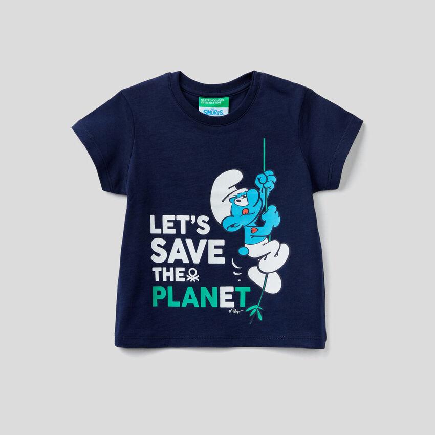 T-shirt avec imprimé Les Schtroumpfs